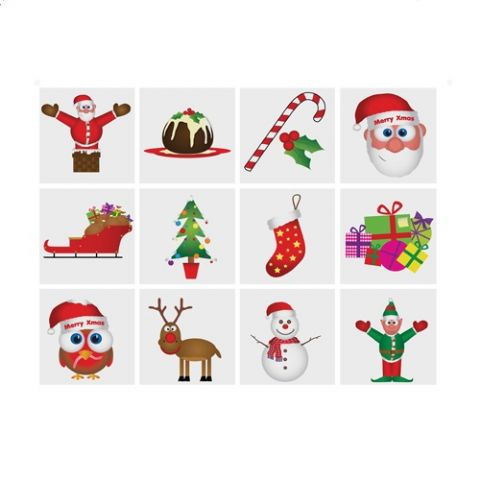Christmas - Pack of 12 Mini Tattoos